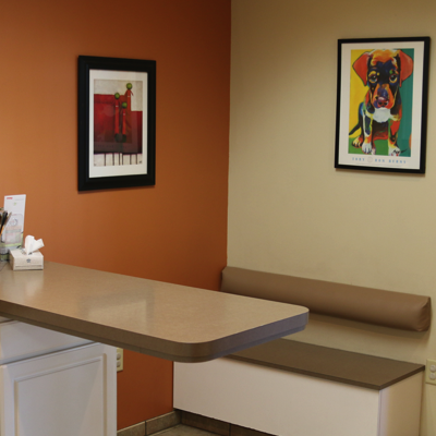 Are exam rooms were designed with you and your pet in mind.