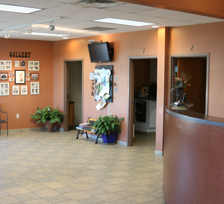 Our spacious lobby allows both you and your pet to rest comfortably before your visit with your veterinarian.